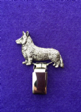 Dog Show Breed Ring Number Clip - Corgi (Cardigan) - FULL BODY Silver or Gold Style